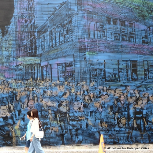 untapped NY | Logan Hicks mural on Bowery