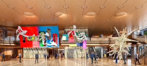 Unnamed by Frank Stella at 50 Hudson Yards; Rendering courtesy of Related-Oxford