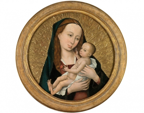 Virgin and Child Medieval painting