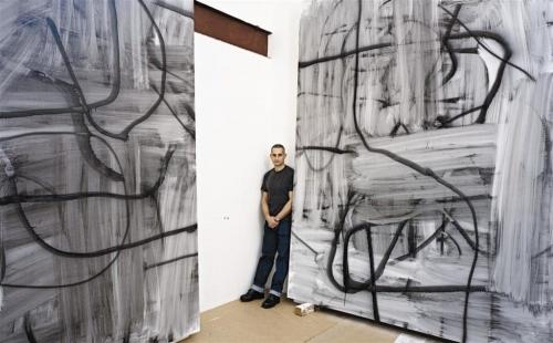 Wool in his studio