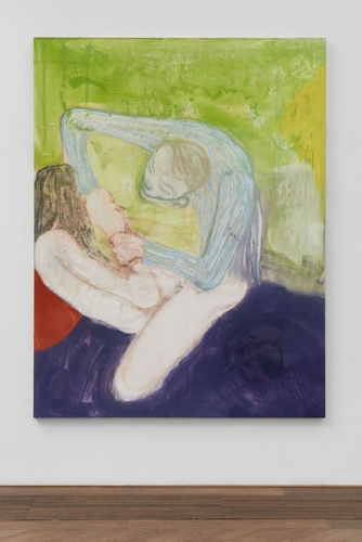 Kantarovsky painting male figure on bed