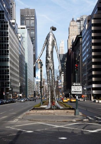 "Tom Friedman's ""Looking Up"" on Park Avenue"