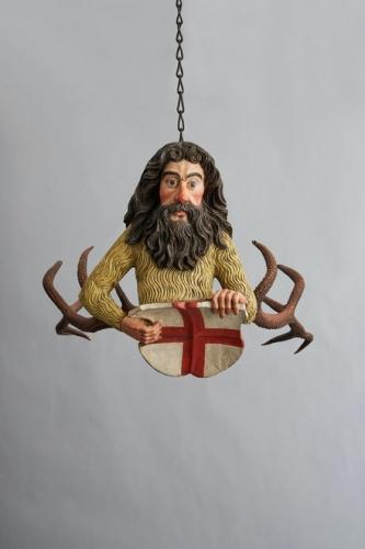Wild man chandelier