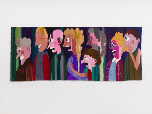 Tapestry of a group of people
