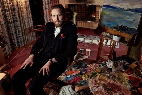 Ragnar Kjartansson in studio