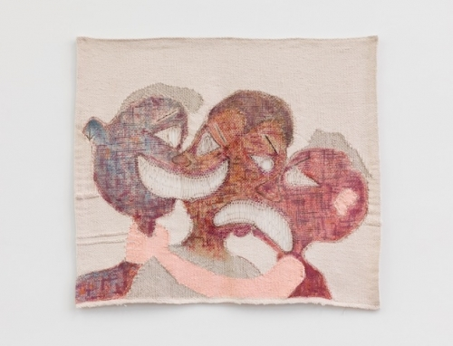 Tapestry of 3 heads
