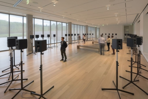 The Forty Part Motet installation at the Clark Art Institute