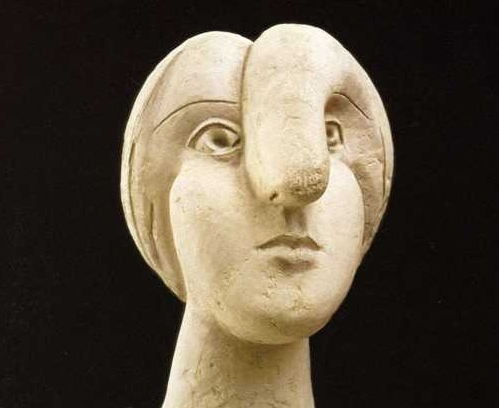 Picasso, Head of a Woman, sculpture