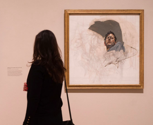 Installation view of Lucian Freud at the Royal Academy