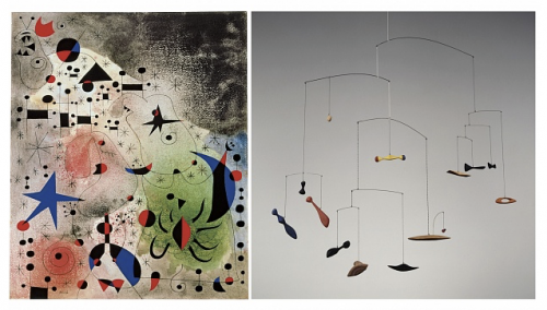 Miro, Migratory Birth and Calder, Constellation Mobile