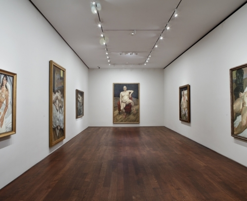 Installation view of Lucian Freud: Monumental at Acquavella Galleries