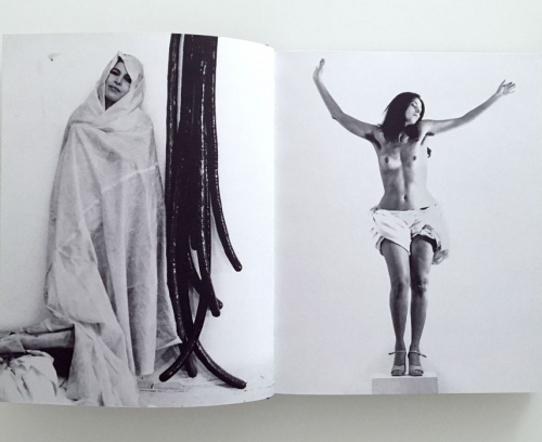 """Image of a spread from """"Eva Hesse   Hannah Wilke: Erotic Abstraction"""" catalogue"""