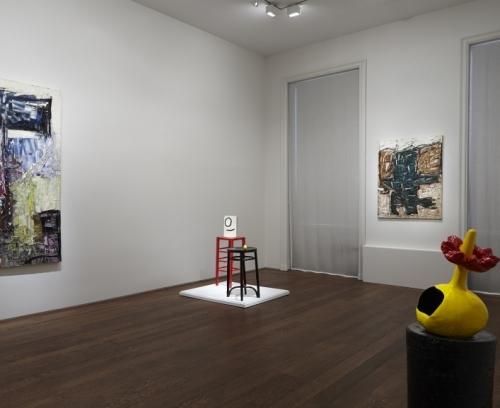 Installation shot of Riopelle/Miro: Color