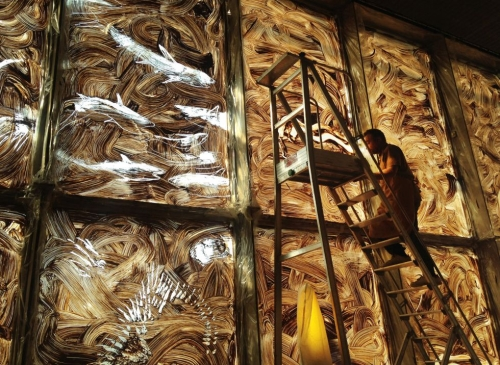 Installation of Miquel Barcelo Sol y Sombra