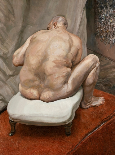Lucian Freud  Naked Man, Back View, 1991-92  Oil on canvas  72 x 54 inches (182.9 x 137.2 cm)  The Metropolitan Museum of Art, New York; Purchase, Lila Acheson Wallace Gift, 1993 (1993.71)  © The Lucian Freud Archive / Bridgeman Images