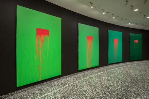Installation view: Pat Steir: Color Wheel, Hirshhorn Museum and Sculpture Garden, 2019–20.