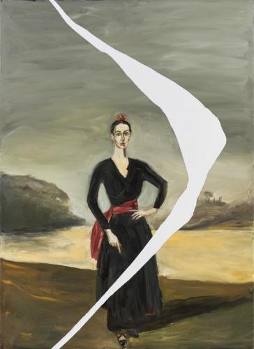 Portrait of Tatiana Lisovskaia As The Duquesa De Alba II, 2014 by Julian Schnabel