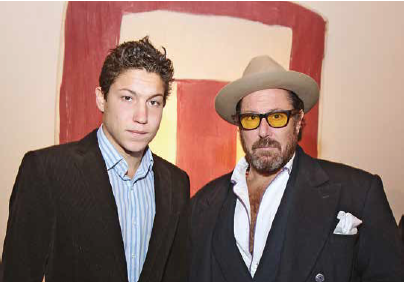 St. Moritz grabbed the attention of the New York Art & Jetset scene : The US Art impresario, Vito Schnabel, debuts in Engadine