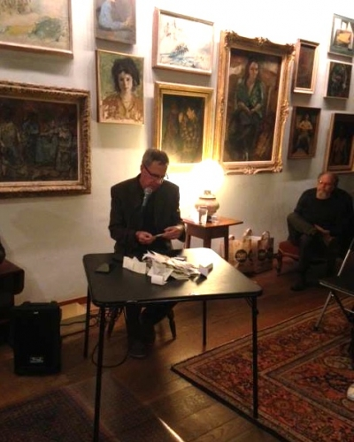 "Poet and critic Raphael Rubinstein reads his ""A Geniza"""