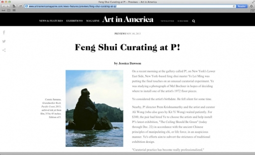 Connie Samaras in the Ceiling Should Be Green at P! Reviewed in Art in America