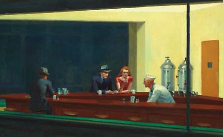 Burchfield in Hopper exhibition at Grand Palais