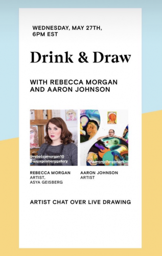 """Drink & Draw with Rebecca Morgan and Aaron Johnson"" - Future Fair Online Promo"