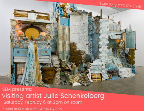 Visiting Artist: Julie Schenkelberg with The Cleveland Institute of Art in the Sculpture and Expanded Media Department