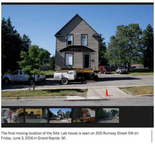 Julie Schenkelberg: The final moving location of the Site:Lab house is seen on 300 Rumsey St SW on Friday, June 3, 2016 in Grand Rapids, MI