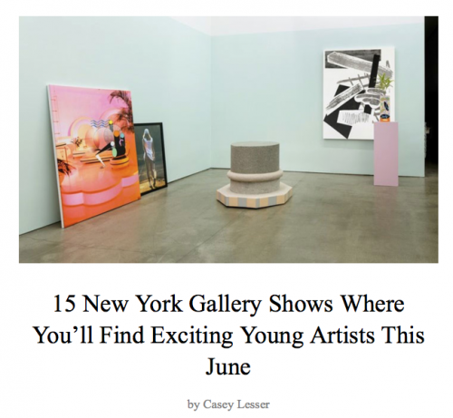 15 New York Gallery Shows Where You'll Find Exciting Young Artists This June, by Casey Lesser