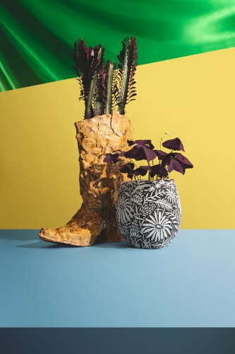 """Press with Trish Tillman and Rebecca Morgan in Vogue Magazine, """"A First Look at The Planter Show, an Exhibition That Proves the Playful Potential of Flower Pots"""", by  Lilah Ramzi"""