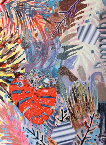 """Painting by Melanie Daniel in the Solo Exhibition: """"After the Flood"""" at Mindy Solomon Gallery, Miami, FL"""