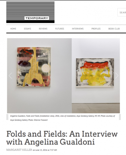 Folds and Fields: an interview with Angelina Gualdoni