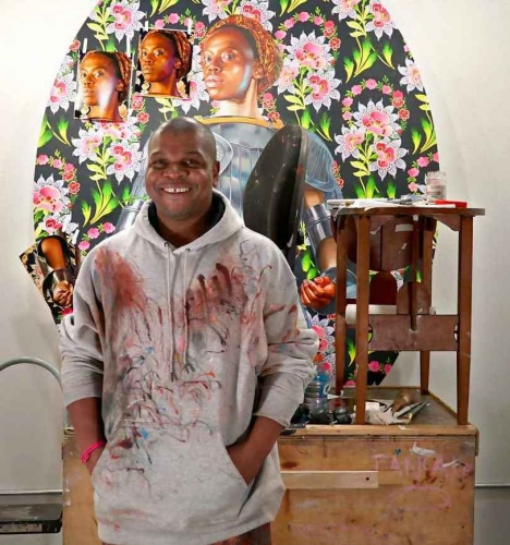 Kehinde Wiley In the Studio for #TOGETHERBAND