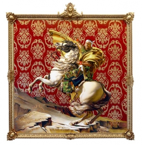 Kehinde Wiley in Jacques-Louis David Meets Kehinde Wiley