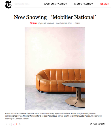 Mobilier National in T Magazine
