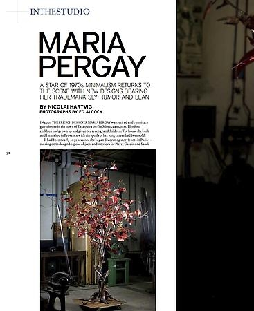 Maria Pergay profiled in Art + Auction