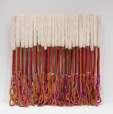Work by Sheila Hicks highlighted by The Boston Globe