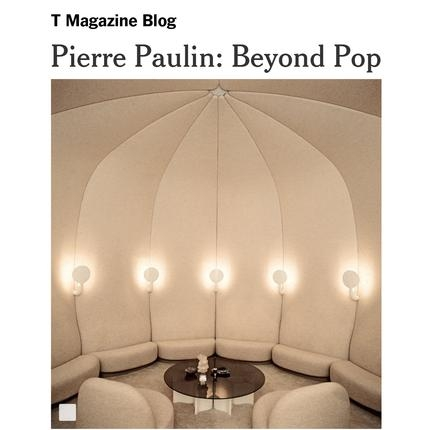 Pierre Paulin in the New York Times