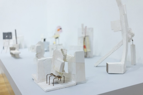"""Installation view of """"Mark Webber: We Shall be a City Upon a Hill."""" Anita Rogers Gallery. Photo by Jon-Paul Rodriguez."""