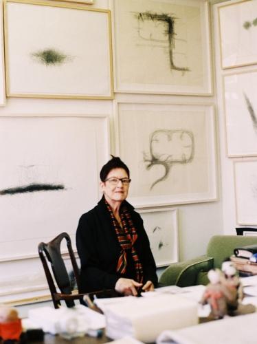 Morgan O'Hara in her studio. Courtesy of InvisibleHabitat.com