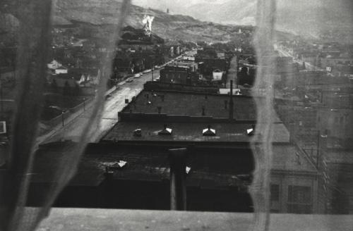Robert Frank, View from Hotel Window, Butte, Montana, 1956. © Robert Frank.