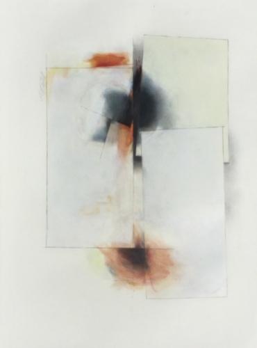 "Gloria Ortiz-Hernández. Outbreak #2. 2019. Pencil on Fabriano. 29 3/4"" x 22"""