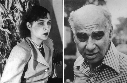 Michael (Corinne) West, circa 1948–50. / Leon Berkowitz, circa 1973. Photo: Kerby Smith.