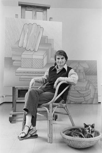 Evelyn Statsinger sitting in studio