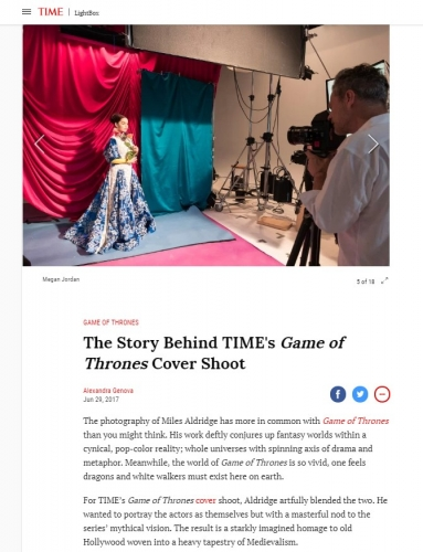 Miles Aldridge - The Story Behind TIME's Game of Throne's Cover Shoot - TIME