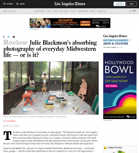 Julie Blackmon's absorbing photography of everyday Midwestern life — or is it? - LA Times
