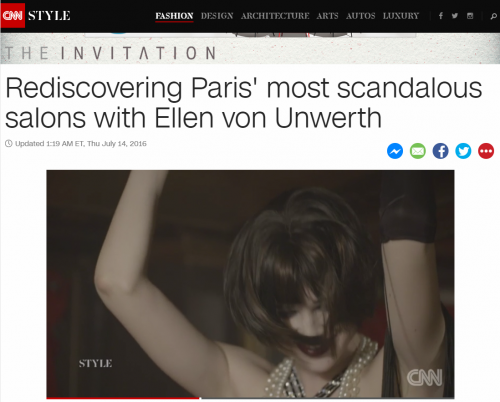 Rediscovering Paris' most scandalous salons with Ellen von Unwerth - CNN