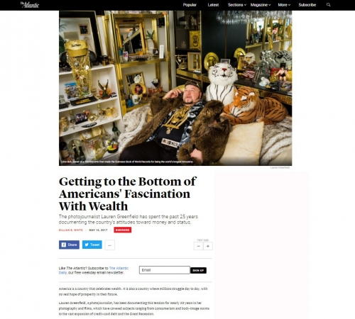 Lauren Greenfield - Getting to the Bottom of Americans' Fascination With Wealth - The Atlantic