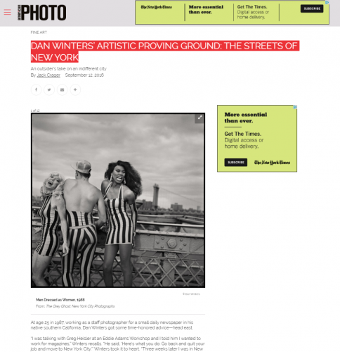 DAN WINTERS' ARTISTIC PROVING GROUND: THE STREETS OF NEW YORK - American Photo