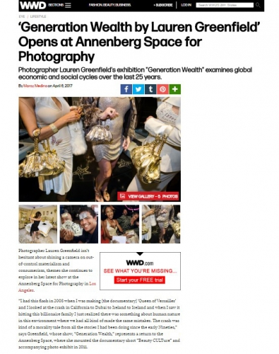 'Generation Wealth' by Lauren Greenfield Opens at Annenberg Space for Photography - WWD